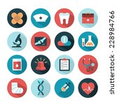 vector health and medical icons | Shutterstock .eps vector #228984766