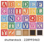 letter blocks | Shutterstock .eps vector #228993463