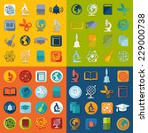 set of education icons | Shutterstock . vector #229000738