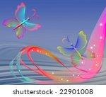 transparent butterfly | Shutterstock . vector #22901008