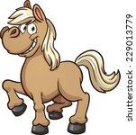 cute cartoon pony. vector clip... | Shutterstock .eps vector #229013779
