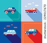 stylish car icon set. modern... | Shutterstock .eps vector #229017670