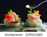 fine dining  fresh raw ahi tuna ... | Shutterstock . vector #229021060
