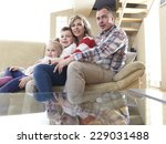 hapy young family have fun ... | Shutterstock . vector #229031488