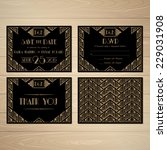 set of wedding invitation in... | Shutterstock .eps vector #229031908