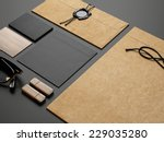 branding elements on black... | Shutterstock . vector #229035280