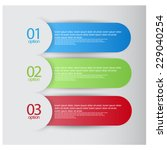info graphic banners with... | Shutterstock .eps vector #229040254