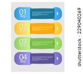 info graphic banners with... | Shutterstock .eps vector #229040269