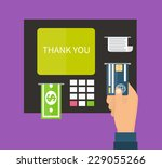 atm terminal and credit card ... | Shutterstock .eps vector #229055266