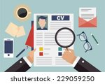 job interview concept with... | Shutterstock .eps vector #229059250