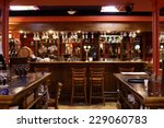 Stock photo beautiful brand new european restaurant in downtown 229060783