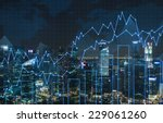 forex graph and an amazing... | Shutterstock . vector #229061260
