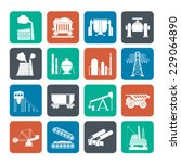 silhouette heavy industry icons ... | Shutterstock .eps vector #229064890