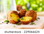 Fresh Falafel Balls Served On ...