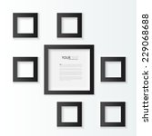 black photo frames  vector... | Shutterstock .eps vector #229068688
