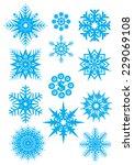 snowflakes . vector set of blue ... | Shutterstock .eps vector #229069108