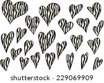vector hearts | Shutterstock .eps vector #229069909