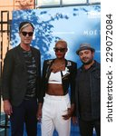 Small photo of NEW YORK - AUGUST 25 Fitz and The Tantrums American Neo Soul and Indie Pop Band at the red carpet before US Open 2014 opening night ceremony at National Tennis Center on August 25, 2014 in New York