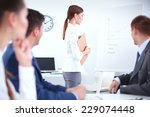 business people sitting and... | Shutterstock . vector #229074448