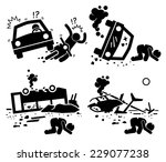 disaster accident tragedy of... | Shutterstock .eps vector #229077238