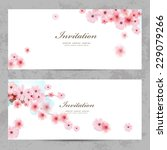Invitation Cards With A Blosso...