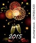 happy new year 2015  vector... | Shutterstock .eps vector #229081420