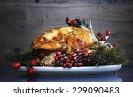 scrumptious roast turkey... | Shutterstock . vector #229090483