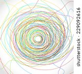 colorful scribble element.... | Shutterstock .eps vector #229092616