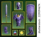 armor set. vector illustration.