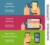 internet banking  mobile... | Shutterstock .eps vector #229099558
