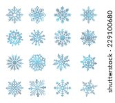 watercolor snowflakes vector... | Shutterstock .eps vector #229100680