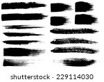 brush strokes set | Shutterstock .eps vector #229114030
