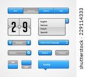 clean light blue user interface ...