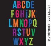 funny alphabet letters. | Shutterstock .eps vector #229121734