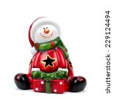 Santa Claus Figurine Isolated...