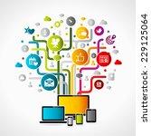 internet concept illustration.... | Shutterstock .eps vector #229125064