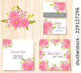 wedding invitation cards with... | Shutterstock .eps vector #229127296
