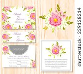 wedding invitation cards with... | Shutterstock .eps vector #229128214