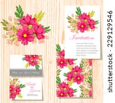 wedding invitation cards with... | Shutterstock .eps vector #229129546