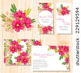 wedding invitation cards with... | Shutterstock .eps vector #229129594