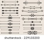 text divider collection   Shutterstock .eps vector #229133203