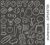 sport bicolor icon set. hand... | Shutterstock .eps vector #229143730