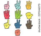 vector set of hand number... | Shutterstock .eps vector #229146373