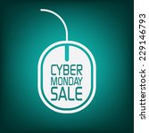cyber monday sale poster with... | Shutterstock .eps vector #229146793