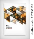 geometric abstract business... | Shutterstock .eps vector #229151113