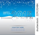 new year 2015 | Shutterstock .eps vector #229152484