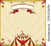 fantastic brown circus square... | Shutterstock .eps vector #229153654