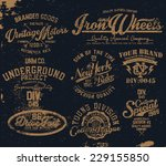 vintage graphic set 2 | Shutterstock .eps vector #229155850