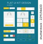 style flat ui kit design...