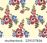 colorful blooming flowers... | Shutterstock .eps vector #229157836